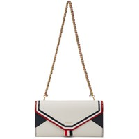 Thom Browne White Envelope Continental Wallet Bag