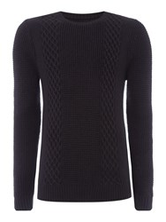 Linea Perriand Side Cable Knit Jumper Black