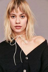 Urban Outfitters Lex Chain Tie Choker Necklace Rose