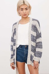 Obey Rosewell Striped Cardigan Blue Multi
