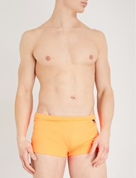 Hom Splash Mid Rise Swim Trunks Orange
