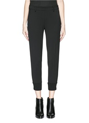 Neil Barrett Tuxedo Stripe Tapered Skinny Pants Black