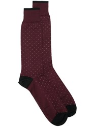 Dolce And Gabbana Dotted Socks Red