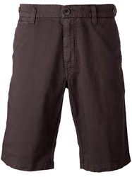 Eleventy Shorts With Button Closure Flap Pockets Brown