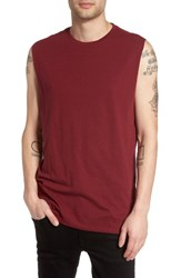 The Rail Men's Solid Muscle Tank Red Oxblood