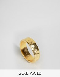 Ottoman Hands Simple Gold Ring Gold