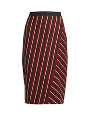 Max Mara Candore Skirt Red Multi