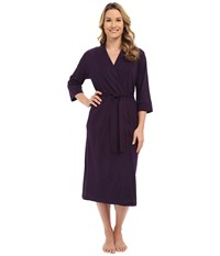 Jockey 48 Cotton Robe Eggplant Women's Robe Purple
