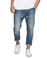 One Teaspoon Mr. Brown Distressed Jeans Blue Buoy