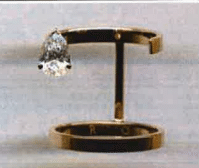 Repossi 18K Pink Gold Gr 4.90 1 Pear Diamond 0.72 Cts D Vs1 Gia Certificate Number 1208504181