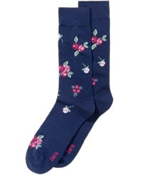 Bar Iii Men's Floral Socks Created For Macy's Navy