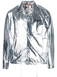 Oamc Metallic Shirt Jacket Silver