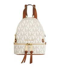 Michael Michael Kors Mini Rhea Zip Backpack Female Cream