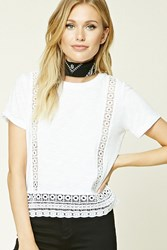 Forever 21 Contemporary Crochet Tee