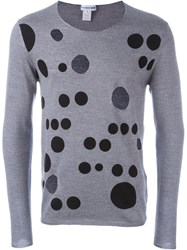 Comme Des Gara Ons Shirt Cut Out Sweater Grey