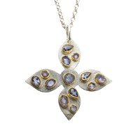 Poppy Jewellery Tanzanite And Iolite Silver Pendant Blue
