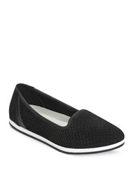 Aerosoles Smart Move Perforated Leather Slip On Sneakers Black