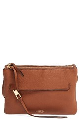 Vince Camuto Gally Leather Crossbody Bag Brown Brandy