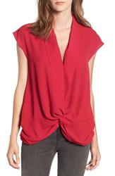 Trouve Twist Front Knot Top Red Persia