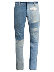 Longjourney T2 Cotton Denim Slim Leg Jeans Light Indigo