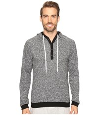 Kenneth Cole Reaction Sleep Hoodie Black Marled Men's Pajama