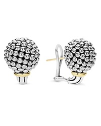 Lagos Sterling Silver Large Caviar Bead Stud Earrings With 18K Gold