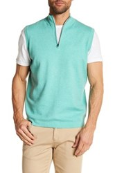 Peter Millar Shelby Quarter Zip Vest Green