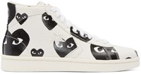 Comme Des Garcons Off White Printed Converse Edition High Top Sneakers