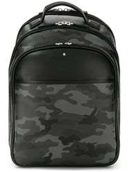 Montblanc Camouflage Print Backpack Grey
