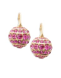 Kate Spade Pave Ball Drop Earrings Pink