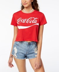 Freeze 24 7 Juniors' Cropped Coca Cola T Shirt Red