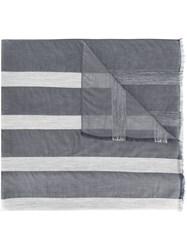Fabiana Filippi Striped Sheer Scarf Blue