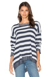 Wilt Slouchy Shifted Stripe Sweater Blue