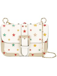 Red Valentino Star Stud Shoulder Bag White