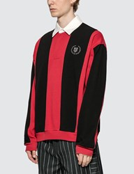 Alexander Wang Heavy Jersey Rugby Polo Shirt Red