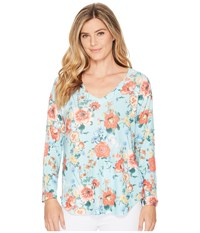 Nally And Millie Green Poppy Floral Print Top Multi Clothing