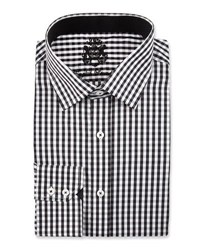 English Laundry Check Long Sleeve Dress Shirt Black