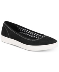 Anne Klein Sport Overthetop Flats Black Fabric