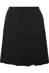 See By Chloe Pleated Crepe Mini Skirt Black