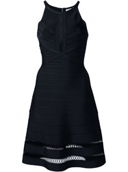 Herve Leger Herve Leger Sleeveless A Line Dress Black