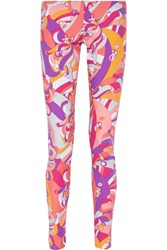 Emilio Pucci Printed Stretch Jersey Leggings Pink