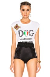 Dolce And Gabbana Graphic Tee In White