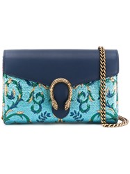 Gucci Dionysus Chain Wallet Women Calf Leather Metal Other One Size Blue