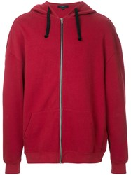 Iro Pedro Zipped Hoodie Men Cotton M Red