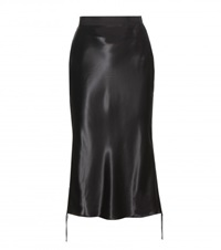Alexander Wang Satin Bias Cut Pencil Skirt Black