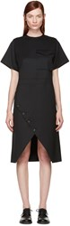 Hyke Black Wool Wrap Dress