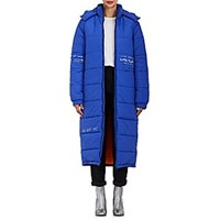 Mira Mikati Embellished Quilted Puffer Coat Blue Multi Blue Multi