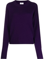 Allude Knitted Jumper Purple