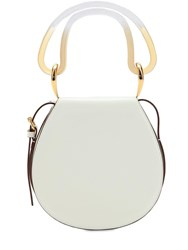 Marni Melville Leather Shoulder Bag White