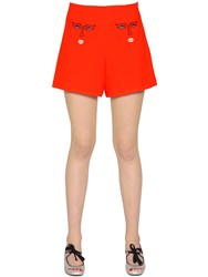 Vivetta Hearts Embroidered Stretch Shorts